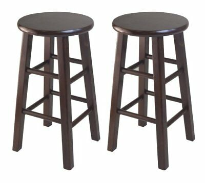 Winsome Set Of 2 Square Leg, 24-inch Counter Stool, Ant