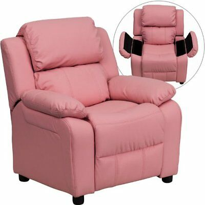 Flash Furniture Deluxe Padded Contemporary Pink Vinyl K