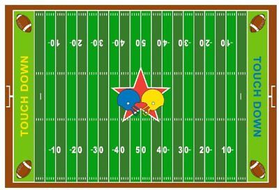 Fun Rugs FT-121 3958 Football Field Childrens Rug, 39-I