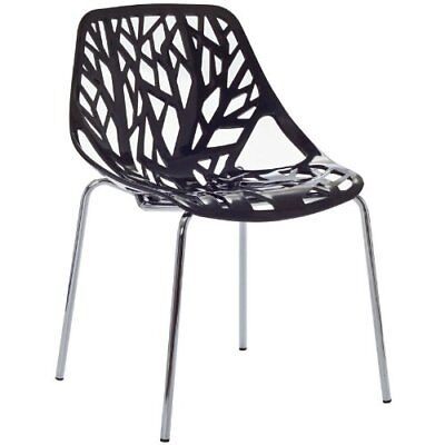 Modway Stencil Dining Side Chair in Black