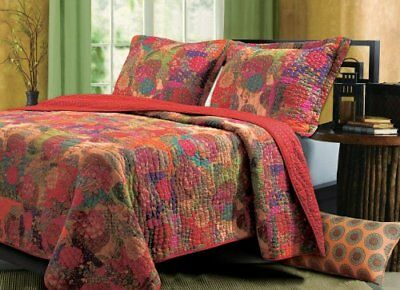 Greenland Home 2-Piece Jewel Quilt Set, Twin, Multicolo