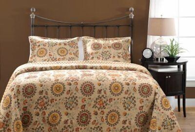 Greenland Home 3-Piece Andorra Quilt Set, King, Multico