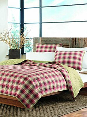 Eddie Bauer Ravena Plaid 3-Piece Cotton Reversible Quil
