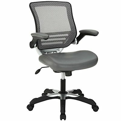 Modway Edge Mesh Back and Gray Vinyl Seat Office Chair