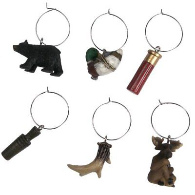 River's Edge Hunting/Outdoor Wine Charms (Pack of 6), B