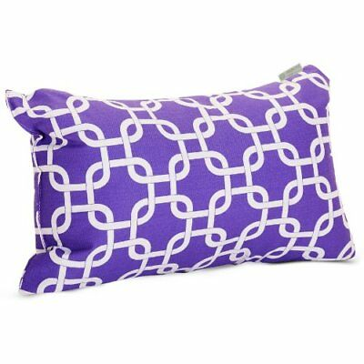 Majestic Home Goods Links Pillow, Small, Purple
