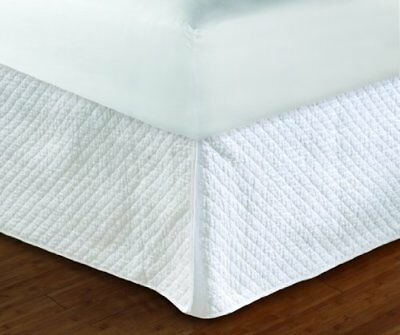 Greenland Home Diamond Quilted Bed Skirt, Full