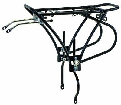 O-Stand Alloy Bicycle Carrier Rack for Disc Brakes (Bla