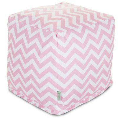 Majestic Home Goods Baby Pink Chevron Small Cube
