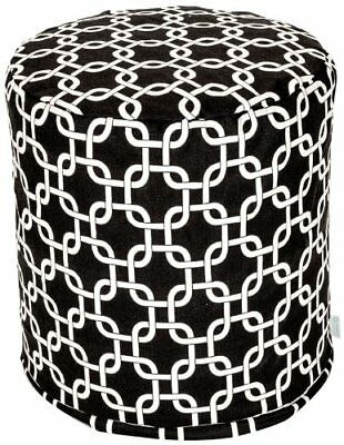 Majestic Home Goods Black Links Small Pouf