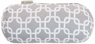 Majestic Home Goods Links Round Bolster, Gray