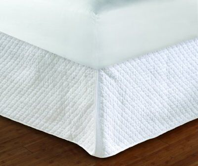 Greenland Home Diamond Quilted Bed Skirt, Twin