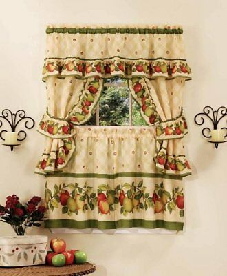 Achim Home Furnishings Apple Orchard Cottage Set, 24-In