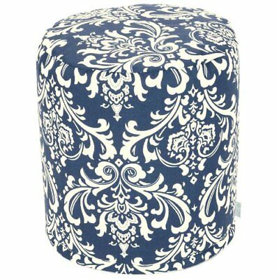 Majestic Home Goods Pouf, Small, French Quarter, Navy B