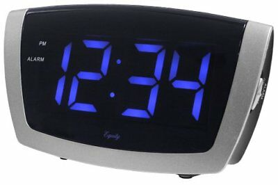 Equity By La Crosse 75904  LED Blue Digit Alarm Clock