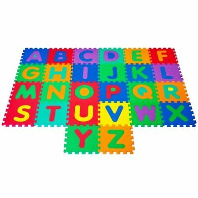 Trademark Global Foam Floor Alphabet Puzzles Mat for Ki