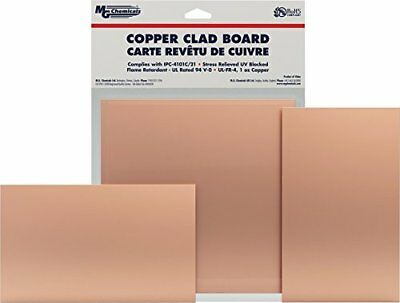"""MG Chemicals Copper Clad Board, Single Sided, 12"""" x 12"""""""