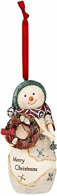 The Birchhearts by Pavilion Snowman Holding Wreath Orna
