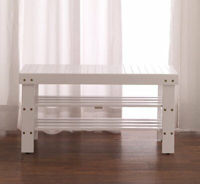 Roundhill Furniture Pina Quality Solid Wood Shoe Bench,