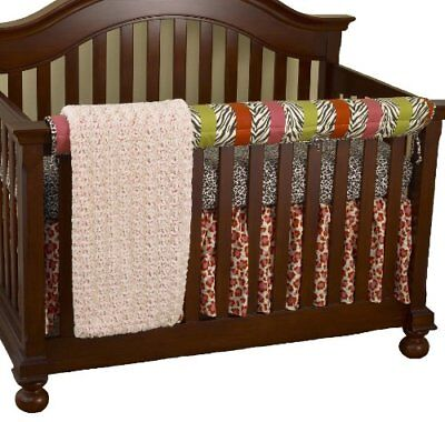 Cotton Tale Designs Front Crib Rail Cover Up Set, Here