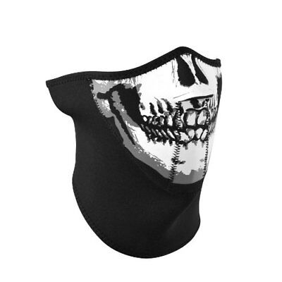 ZANheadgear Neoprene 'Skull' Design 3-Panel Half Mask (