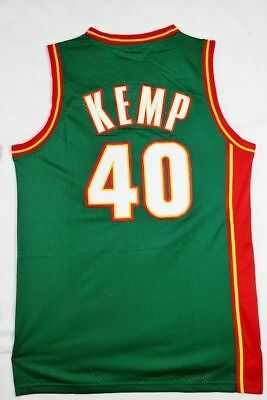 Hommes Seattle Supersonics Shawn Kemp #40 Green Swingman Basketball Sewn Jersey