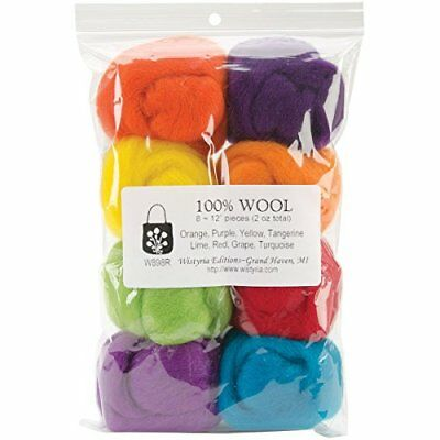 Wistyria Editions Wool Roving 12in. .25 Ounce 8/Pkg Fie