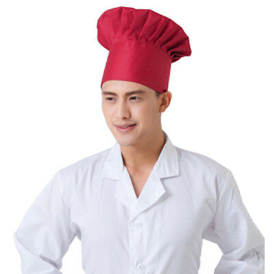Adult Elastic White Chef Hat Baker BBQ Kitchen Cooking Hat Costume Cap Hot