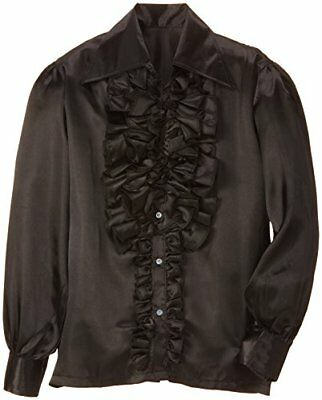Ruffle dress shirt black (japan import)