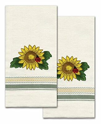 Tobin T212940 Stamped Kitchen Towel for Embroidery, Sun