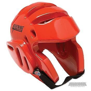 ProForce Lightning Sparring Head Guard / Headgear - Red