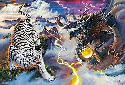 1000 piece Blue Dragon white tiger Figure 61-341 (japan