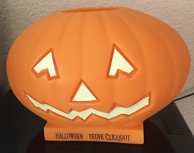 Veuve Clicquot Champagne Halloween Pumpkin Vintage USED  Glow in The Dark Face