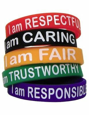 Teacher Created Resources Character Traits Wristbands (