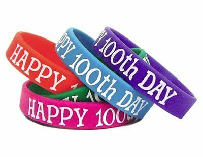 Teacher Created Resources Happy 100th Day Wristbands (6