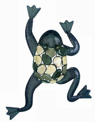 Gardman 8423 Climbing Frog with Natural Stones Wall Art