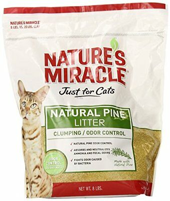 Nature's Miracle Natural Pine Clumping Litter, 8-Pound