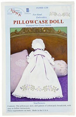 Jack Dempsey Stamped White Pillowcase Doll Kit, Starflo