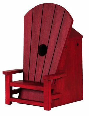 Outside Inside Adirondack Chair Birdhouse, Red