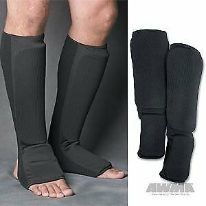 ProForce Combination Cloth Shin / Instep Guards - Black