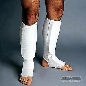 ProForce Combination Cloth Shin / Instep Guards - White