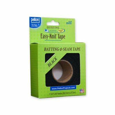 "Pellon EK151-30 Easy-Knit Tape - Black - 1.5"" x 30 yard"