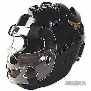 ProForce Thunder Full Headgear w/ Face Shield - Black -