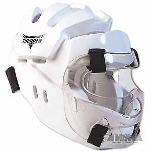 ProForce Thunder Full Headgear w/ Face Shield - White -