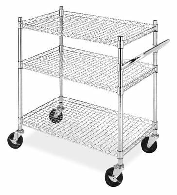 Whitmor Rolling 3-Tier Commercial Cart