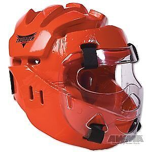 ProForce Thunder Full Headgear w/ Face Shield - Red - M