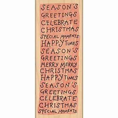 "Penny Black Mounted Rubber Stamp 2.25""X6""-Merry Moments"