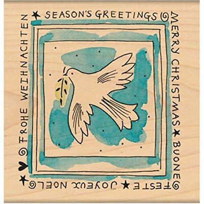 "Penny Black Mounted Rubber Stamp 3.5""X3.5""-Peace"