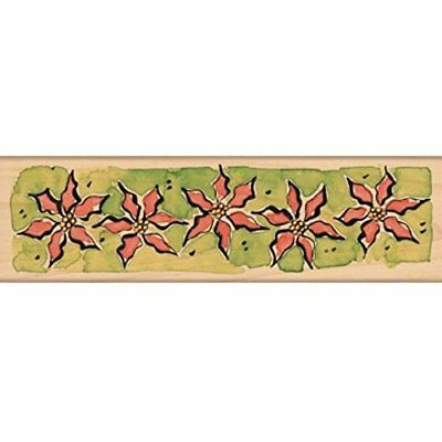 Penny Black Mounted Rubber Stamp 2.25x6-Poinsettia Bord