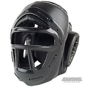 ProForce Headguard w/ Face Cage - Black - X-Large